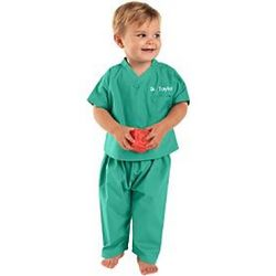 Green Personalized Baby Scrubs