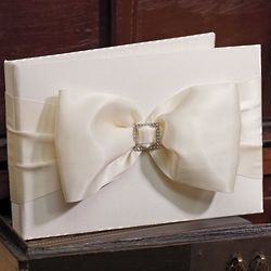 Elegant Satin Bow Guest Book