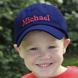 Kid's You Name It Personalized Blue Baseball Cap
