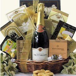 Taittinger Brut Champagne Gift Basket