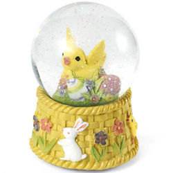 Easter Chick Musical Snow Globe