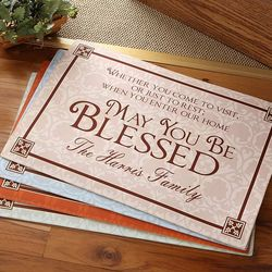 May You Be Blessed Personalized Doormat