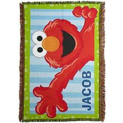 Personalized Elmo Throw Blanket
