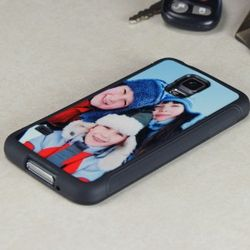 Personalized Photo Rubber Phone Cover for Samsung Galaxy S5