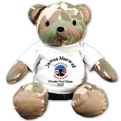 """Land of the Free Military 12"""" Teddy Bear"""