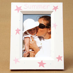 Personalized Hand-Painted Stars Picture Frame