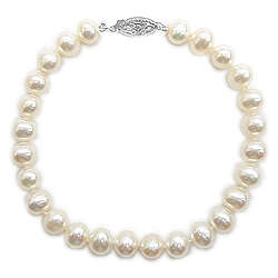Fresh Water Pearl Bracelet in 14K White Gold