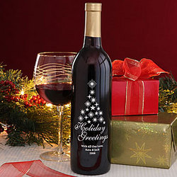 Personalized Christmas Tree Wine Bottle