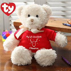 My First Christmas Personalized Ty Bear