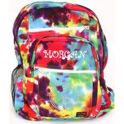 "Personalized Tie Dye ""Peace"" Backpack"