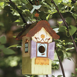 Folk Cottage Bird House