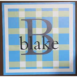 Personalized Preppy Plaid Wall Decal