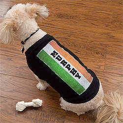 Personalized Irish Flag Dog Shirt