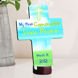 Personalized Bright Blessings First Communion Cross