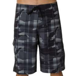 Santa Cruz Plaid 2 Black Camo Boardshorts