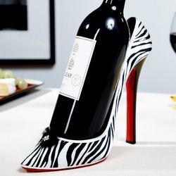 Zebra Wild Life Shoe Wine Bottle Holder