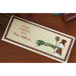One Dozen Personalized Snowman Candy Bar Wrappers