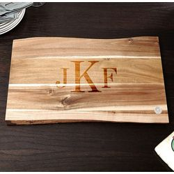 In the Raw Classic Monogram Cutting Board