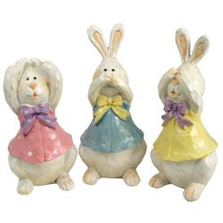 Hear, Speak, See No Evil Easter Bunnies