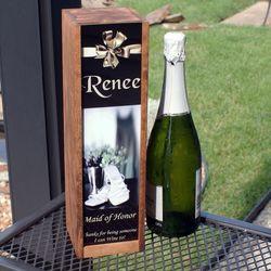 Photo Personalized Rustic Wine Box