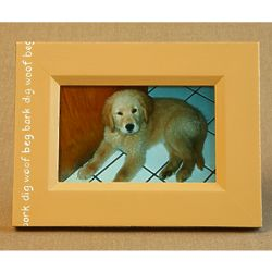 Hand-Painted Dog Showcase Picture Frame