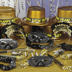 Black & Gold New Year's Party Assortment for 25