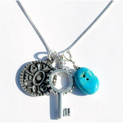 Turquoise Gate Opening Key Necklace