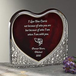 Loving Heart Personalized Sculpture