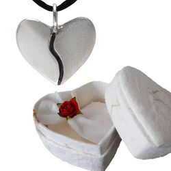 Silver Harmony Heart in a Heart Shaped Box
