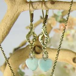 Amazonite Heart Earrings