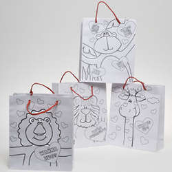 Paper Color Your Own Valentine Bag