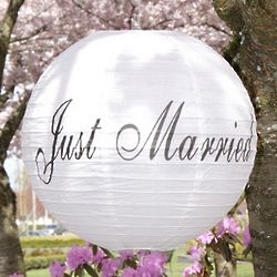 Paper Lanterns for Wedding Reception