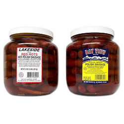Two Jars of Pickled Sausage