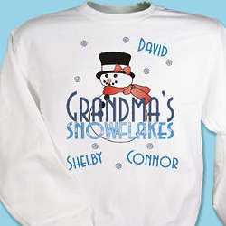 Grandma's Personalized Snowflakes Sweatshirt