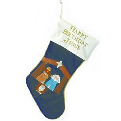 Happy Birthday Jesus Stocking