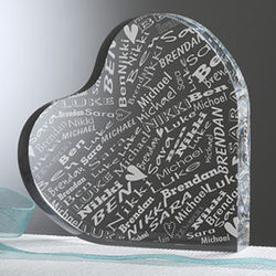 Her Heart of Love Personalized Paperweight
