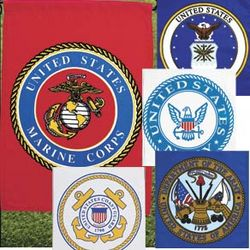 Military Insignia Weatherproof Garden Flag