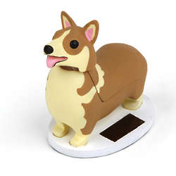 Elroy the Corgi Solar Bobble Dog