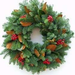 Jolly Christmas Noble Fir Wreath