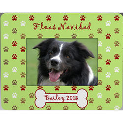 Fleas Navidad Personalized Mini-Frame Pet Ornament