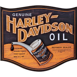 Retro Harley-Davidson Oil Can Pub Sign