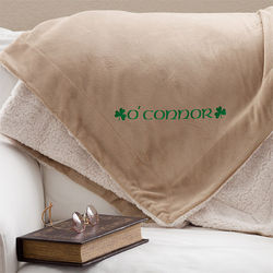 Irish Pride Embroidered Sherpa Blanket