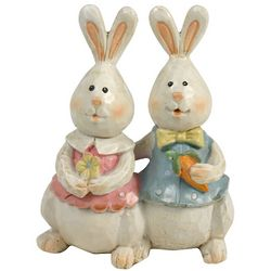 Easter Bunny Couple Figurines