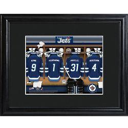 Winnipeg Jets Locker Room Personalized Print