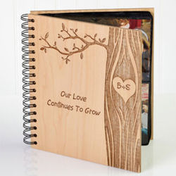 Carved in Love Personalized Photo Album