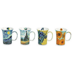 4 Bone China Van Gogh Mugs
