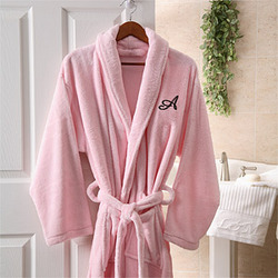 Personalized Hers Embroidered Luxury Fleece Robe
