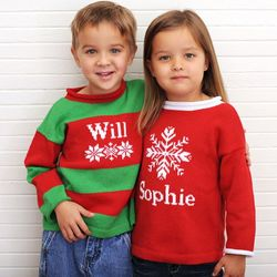 Personalized Snowflake Sweater