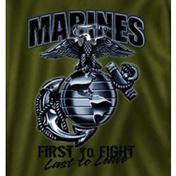 Marines First to Fight Drab T-Shirt