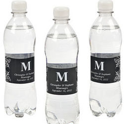 Black Personalized Monogram Bottle Labels